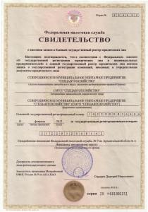 Свидетельство ОГРН от 15.02.2012